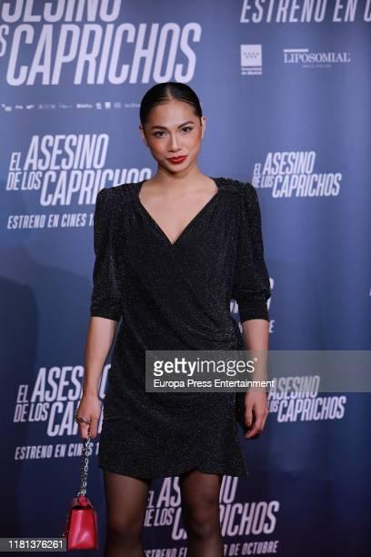 Alexandra Masangkay attends 'El Asesino de los Caprichos' premiere on October 15, 2019 in Madrid, Spain.