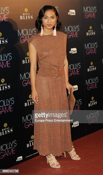 Alexandra Masangkay attends 'Molly's Game' Madrid premiere on December 4, 2017 in Madrid, Spain.