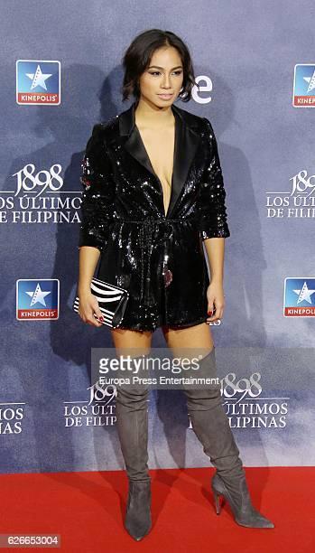 Alexandra Masangkay attends the '1898 Los Ultimos De Filipinas' premiere at Kinepolis cinema on November 29 2016 in Madrid Spain