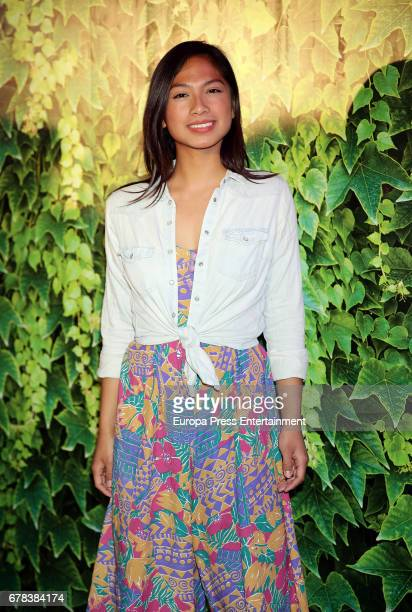 Alexandra Masangkay attends the 'Intropia rummage sale' photocall at Puerta de America hotel on May 3 2017 in Madrid Spain