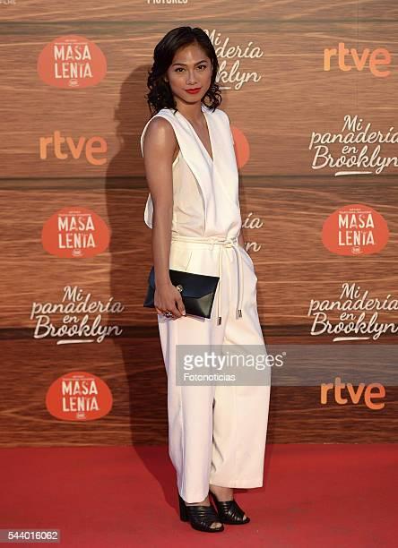 Alexandra Masangkay attends the 'Mi Panaderia de Brooklyn' premiere at Capitol cinema on June 30 2016 in Madrid Spain