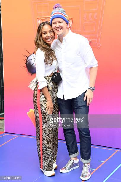 """Alexandra Maurer and husband Greg attend a special screening of """"SPACE JAM: A NEW LEGACY"""" in cinemas 16th July at Cineworld Leicester Square on July..."""