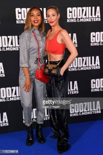 Alexandra Maurer and Laura Pradelska attend GODZILLA II King of the Monsters at Cineworld Leicester Square on May 28 2019 in London England