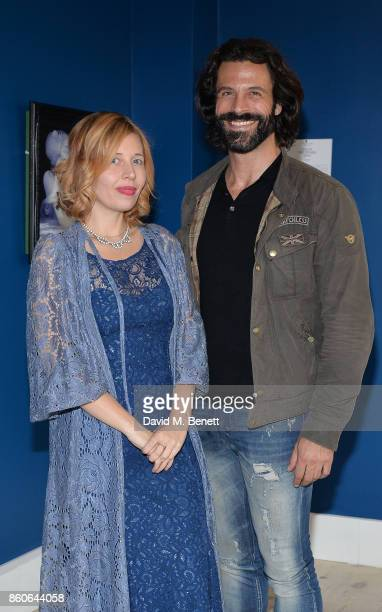Alexandra Mazzanti and Christian Vit attend the Dorothy Circus Gallery 10th anniversary exhibition Pages From Mind Travellers Diaries on October 12...
