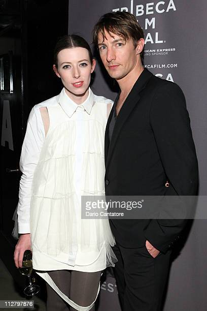 Alexandra McGuinness and Benn Northover attend the Tribeca Film Festival celebration for the premiere of Lotus Eaters at Liberty Hall at Ace Hotel on...