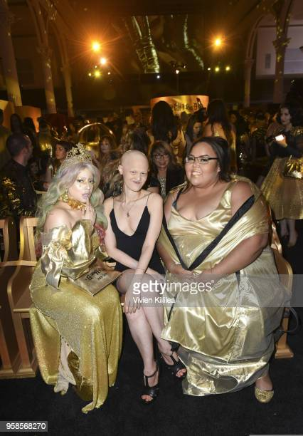 Alexandra Merino Melanie Gaydos and Ashley Brown attend Kat Von D Beauty 10th Anniversary Party at Vibiana Cathedral on May 10 2018 in Los Angeles...