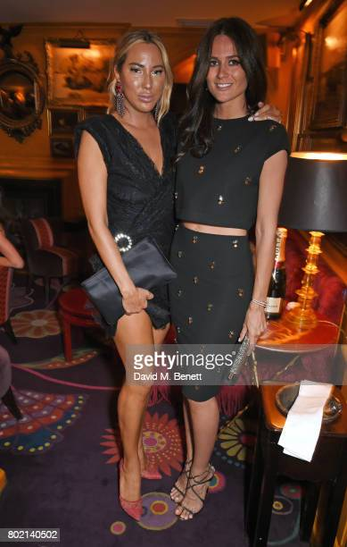 Alexandra Meyers and Kim Johnson attend the Rita Ora dinner and performance at Annabel's on June 27 2017 in London England