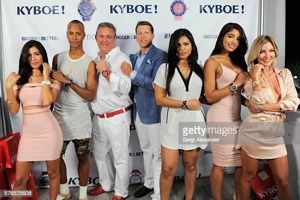 Alexandra Michelle Rodriguez Stylist Shaq CEO of KYBOE Marc Bell CFO of KYBOE Joe Roos Natasha SenFizdale Alexandra Michelle Rodriguez and Casi Davis...