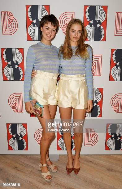 Alexandra Moncrieffe and Idina Moncrieffe attend the Shop at Bluebird Covent Garden launch party at The Carriage Hall on May 17 2018 in London England