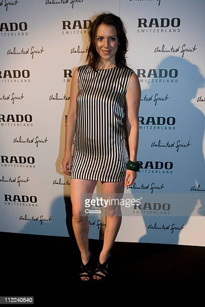 Alexandra Mora poses during the launching of new collection of Rado Watches at Arte Contemporaneo Arruniz Gallery on April 14 2011 in Mexico City...