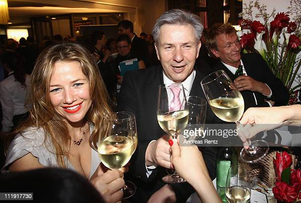 Alexandra Neldel and Berlin's mayor Klaus Wowereit attend the after show party to the 'Lola - German Film Award 2011' at Friedrichstadtpalast on...