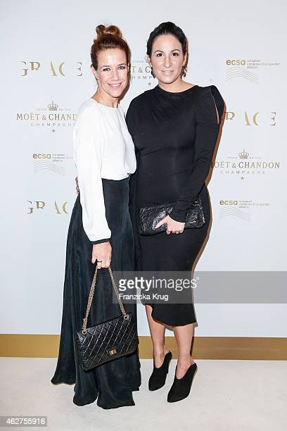 Alexandra Neldel and Minu Barati attend the Moet Chandon Grand Scores Dinner on February 04 2015 in Berlin Germany