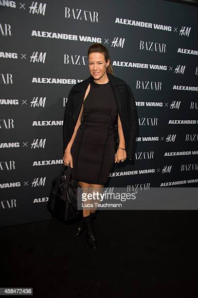 Alexandra Neldel attends the Alexander Wang X H&M collection pre-shopping event at Platoon Kunsthalle on November 5, 2014 in Berlin, Germany.
