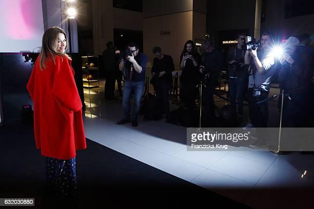 Alexandra Neldel attends the celebration of 'Der Berliner Mode Salon' by KaDeWe & Vogue at KaDeWe on January 18, 2017 in Berlin, Germany.