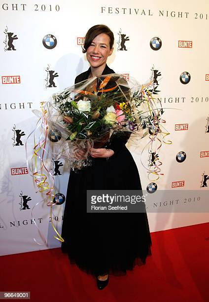 Alexandra Neldel attends the 'Festival Night' during the 60th Berlin International Film Festival at the Palais am Festungsgraben on February 12, 2010...
