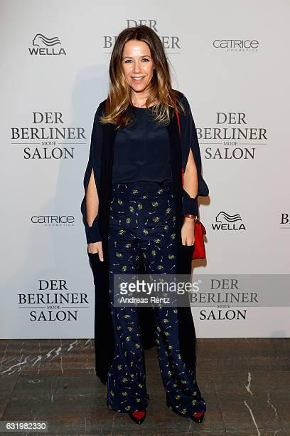 Alexandra Neldel attends the group presentation during the Der Berliner Mode Salon A/W 2017 at Kronprinzenpalais on January 18, 2017 in Berlin,...
