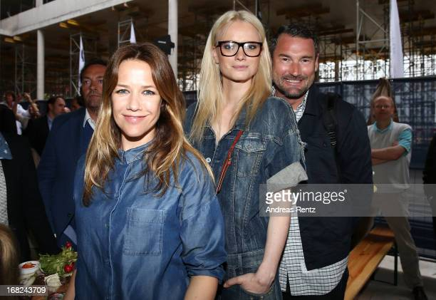Alexandra Neldel, Franziska Knuppe and Michael Michalsky attend roofing ceremony at BMW new Berlin location at BMW Niederlassung Berlin on May 7,...