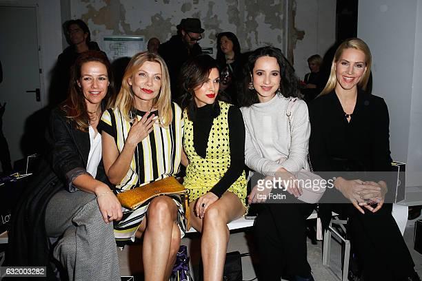Alexandra Neldel, Ursula Karven, Viktoria Lauterbach, Stephanie Stumph and Judith Rakers attend the Laurel show during the Mercedes-Benz Fashion Week...