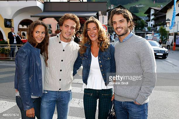 Alexandra Nicholas Pacifico Griffini Fiona Swarovski and Arturo Pacifico Griffini attend the 'The Search For Freedom' premiere and opening night of...