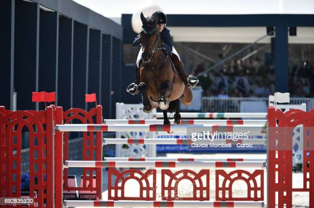Alexandra of England riding HHS Figero during the Longines Grand Prix Athina Onassis Horse Show on June 3 2017 in St Tropez France