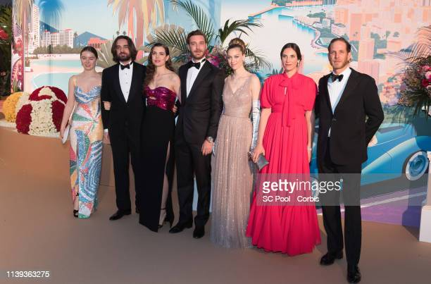 Alexandra of Hanover Dimitri Rassam Charlotte Casiraghi Pierre Casiraghi Beatrice Casiraghi Tatiana Casiraghi and Andrea Casiraghi attend the Rose...