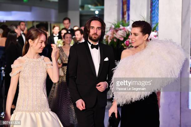 Alexandra of HanoverDimitri Rassam and Charlotte Casiraghi arrive at the Rose Ball 2018 To Benefit The Princess Grace Foundation at Sporting...