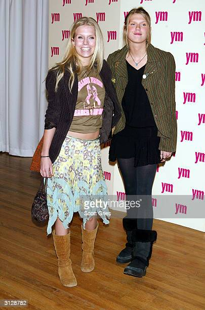 Alexandra on right and Theodora Richards arrive at the 5th Annual YM MTV Issue party at Spirit March 24 2004 in New York City