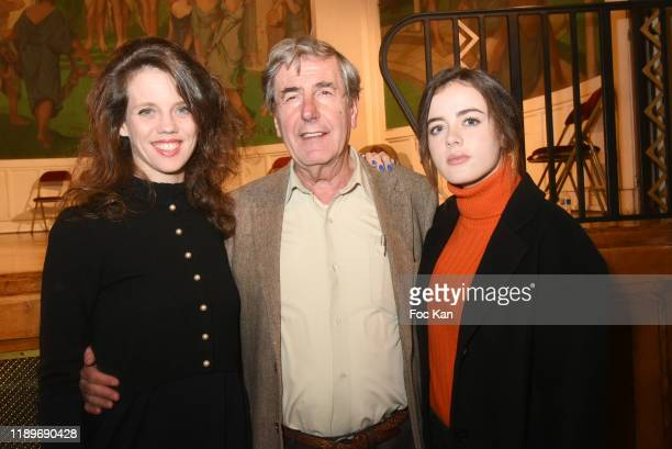 Alexandra Oppo Bernard Menez and Lou Gala attend the Poesie En Liberté 2019 Awards Ceremony At Mairie Du 5eme on November 23 2019 in Paris France