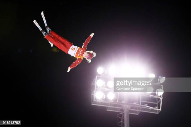 Alexandra Orlova of Olympic Athlete from Russia competes during the Freestyle Skiing Ladies' Aerials Qualification on day six of the PyeongChang 2018...