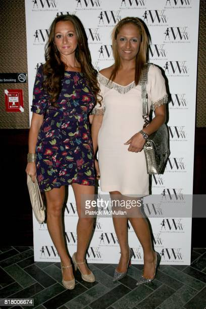 Alexandra Osipow and Anisha Lakhani attend QUEST MAGAZINE What2WearWherecom hosts a soft launch of LAVO at 38 E 58th St on September 9 2010 in New...