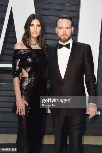 Alexandra Pakzad and Dana Brunetti attend the 2017 Vanity Fair Oscar Party hosted by Graydon Carter at Wallis Annenberg Center for the Performing...