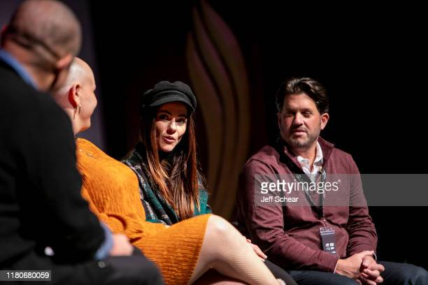 Alexandra Park and Aron Giannini attend the Catalyst Content Festival on October 12 2019 in Duluth Minnesota