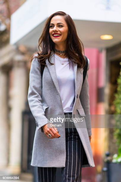 Alexandra Park is seen wearing a Reformation top Zara pants and Jimmy Choo shoes in the Upper East Side on March 7 2018 in New York City