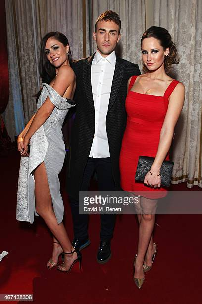 Alexandra Park Tom Austen and Merritt Patterson attend the 'The Royals' UK premiere party at the Mandarin Oriental Hyde Park on March 24 2015 in...