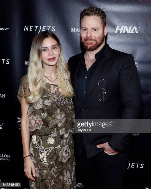 Alexandra Parker and Sean Parker attend the Forbes Media Centennial Celebration at Pier 60 on September 19 2017 in New York City