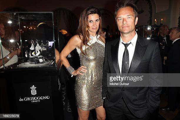 Alexandra Pastor and David Halliday attend the 'De Grisogono' Party At Hotel Du Cap Eden Roc on May 21 2013 in Antibes France