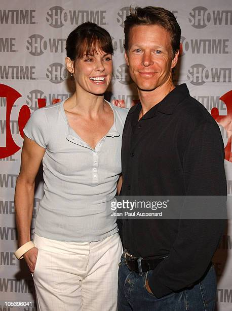 Alexandra Paul and husband Ian Murray during 'The L Word' Showtime Network's Second Season Premiere at Directors Guild of America in Los Angeles...