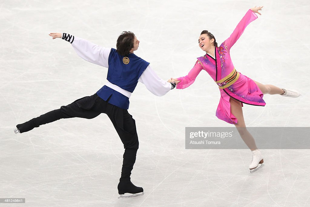 Alexandra Paul and Mitchell Islam of Canada compete in the Ice Dance Free Dance during ISU World Figure Skating Championships at Saitama Super Arena on March 29, 2014 in Saitama, Japan.