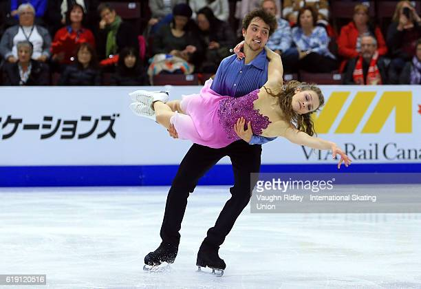 Alexandra Paul and Mitchell Islam of Canada competes in the Ice Dance Free Program during the ISU Grand Prix of Figure Skating Skate Canada...