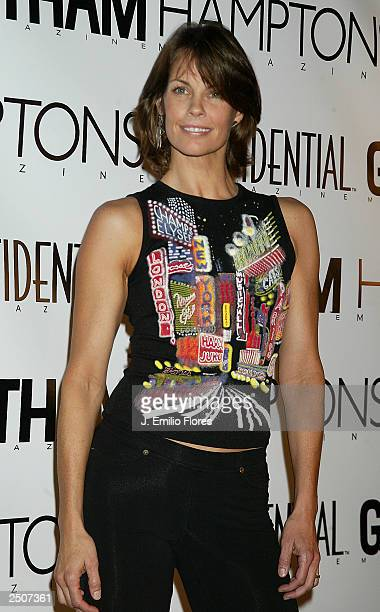 Alexandra Paul arrives at a PreEmmy bash to celebrate Los Angeles Confidential Magazine Fall/Fashion issue September 17 2003 in Los Angeles