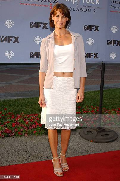 Alexandra Paul during 'Nip/Tuck' Season Two Premiere Arrivals at Paramount Theatre in Los Angeles California United States