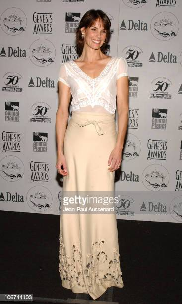 Alexandra Paul during The 18th Annual Genesis Awards and 50th Anniversary of the Humane Society of the United States Pressroom at Beverly Hilton in...