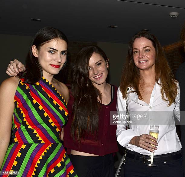 Alexandra Pechman Kick Kennedy and Anne Churchill attend Alvin Valley launch of OnApproval on September 12 2015 in New York City
