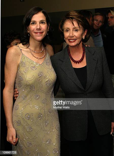 Alexandra Pelosi and mother Nancy Pelosi during HBO Presents the Documentary Special Diary of A Political Tourist at HBO Theater Times Square in New...