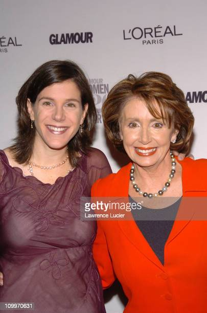 Alexandra Pelosi and Nancy Pelosi during Glamour Magazine Salutes The 2004 Women of the Year Arrivals at American Museum of Natural History in New...