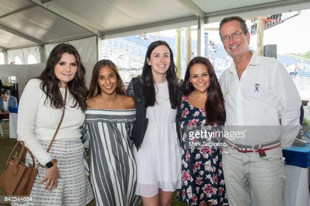 Alexandra Piscitello Alexa Rivadeneira Bianca Acquaviva Jillian Robbins and Christopher Robbins attend the Hamptons Magazine Grand Prix celebration...