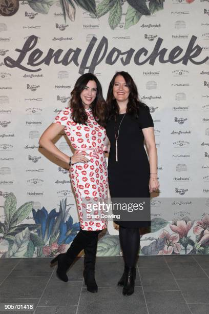 Alexandra Polzin and a guest attend the Lena Hoschek Fashion Show Berlin at Botanischer Garten on January 16 2018 in Berlin Germany