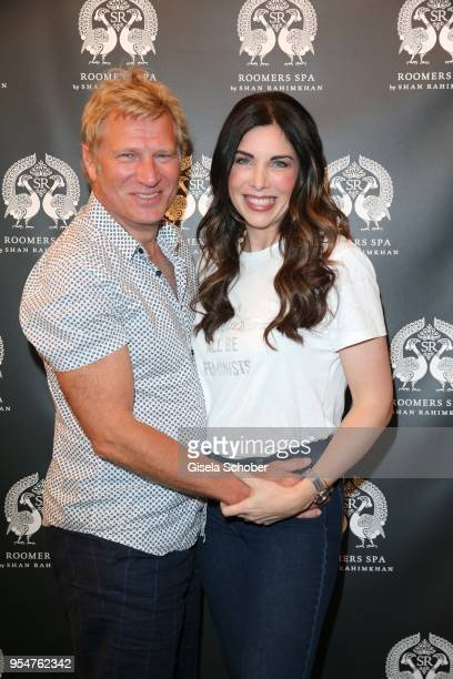 Alexandra Polzin and her husband Gerhard Leinauer attend the Grand Opening of Roomers Spa by Shan Rahimkhan on May 4, 2018 in Munich, Germany.