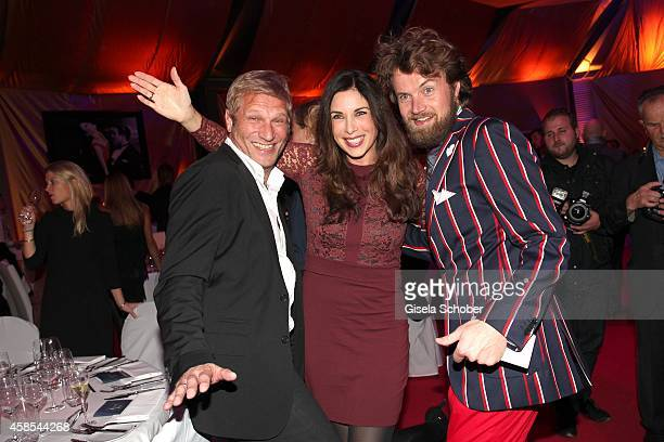 Alexandra Polzin and her husband Gerhard Leinauer Michael von Hassel attend the Cotton Club Dinnershow Premiere at Ungerer Bad on November 6 2014 in...