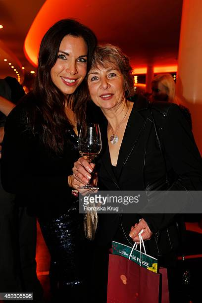 Alexandra Polzin and her mother attend the Zoo Palast Reopening at Zoo Palast on November 27 2013 in Berlin Germany